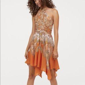 H&M orange paisley dress